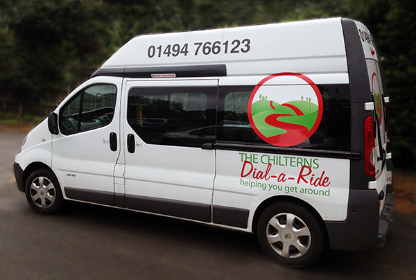 The Chilterns Dial a ride mini bus